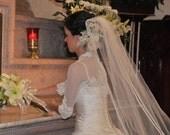 3/4 Sleeve Grace Bridal Shrug - White or Ivory