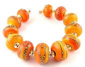 Made To Order Chunky Mango Silvered  Lampwork Beads by Canyon Echoes SRA