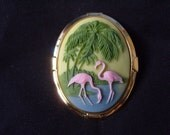 Flamingo Cameo Brooch - Reserved for mattscaftywife