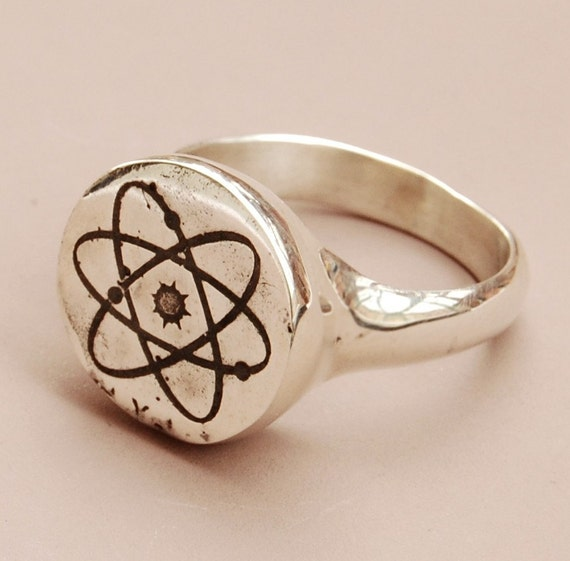 Atom Ring - silver
