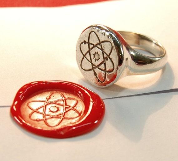 Atom Ring Silver