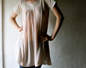 Peach and Lace tunic dress