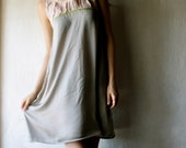 Tunic dress in grey and peach mini dress womens clothes