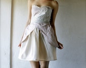 Party dress - Strapless Romantic and ivory