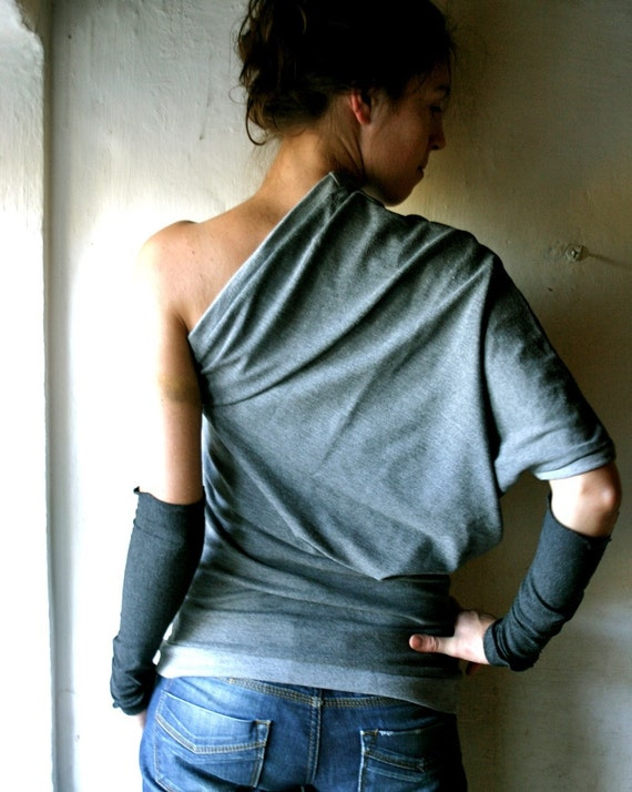 Grey Off shoulder top