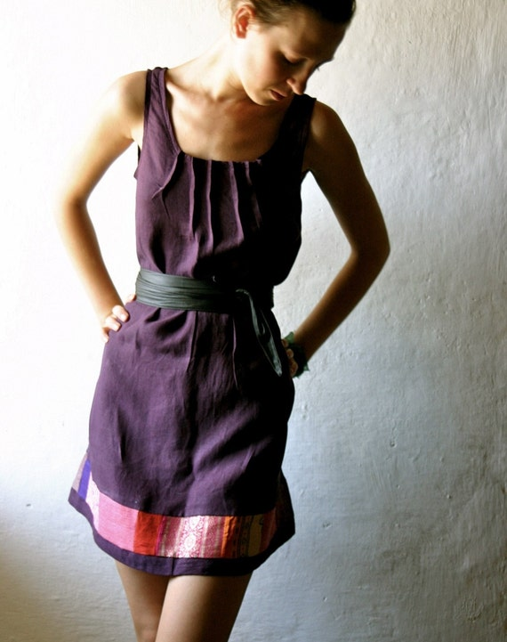 Purple Pleated Tunic  -reserved for sukielo