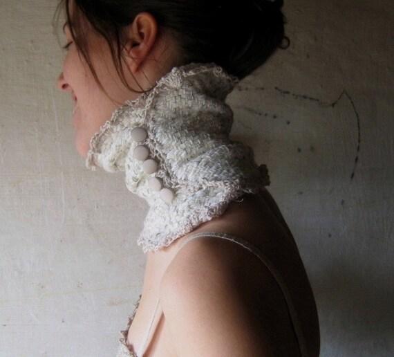 silky retro handwoven scarflette