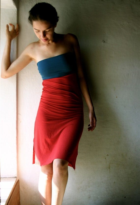 Red and blue dress SALE