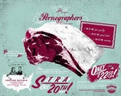 The New Pornographers - Handprinted Silkscreen Poster - Limited Edition