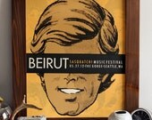 Beirut - Limited Edition Hand Printed Silkscreen Poster - Hero Design Studio