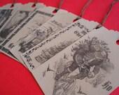 Primitive Vintage Christmas Gift Tags\/Hang Tags-Set of 12