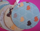 The Animal Family Handmade Circle  Gift\/Hang Tags-Set of 9