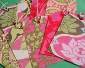 Amy Butler Hang Tags(Pink Theme)-Set of 10