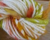 Handspun Art Yarn - Wool with Mohair locks