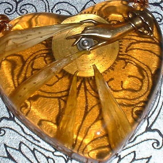 Petal Gears - Steampunk Resin Necklace