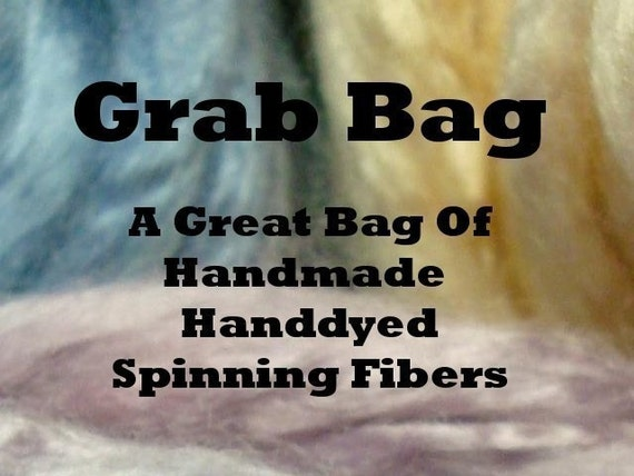 Grab Bag - 1/2 lb. of handdyed, handmade Spinning Fibers,
