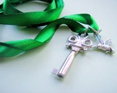 Key to Flight Ribbon Charm