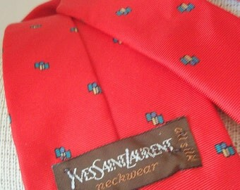 Vintage Yves Saint Laurent Silk Neck Tie