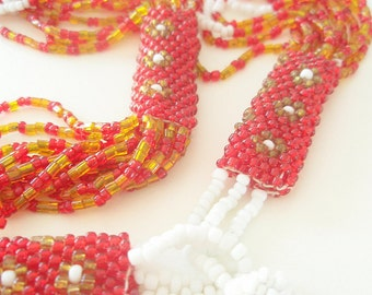 Peyote Stitch Beaded Necklace