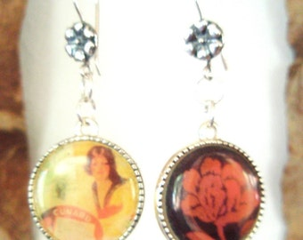 Vintage Mexican Charm Earrings