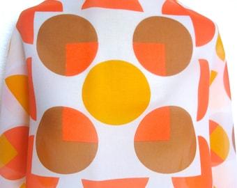 Circus Citrus Mod - a vintage 1970's Vera Neumann Sheer Scarf