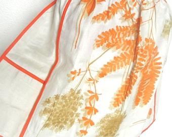 Dandelions - vintage 1960's Vera Neumann Lucky Ladybug hand-painted linen apron