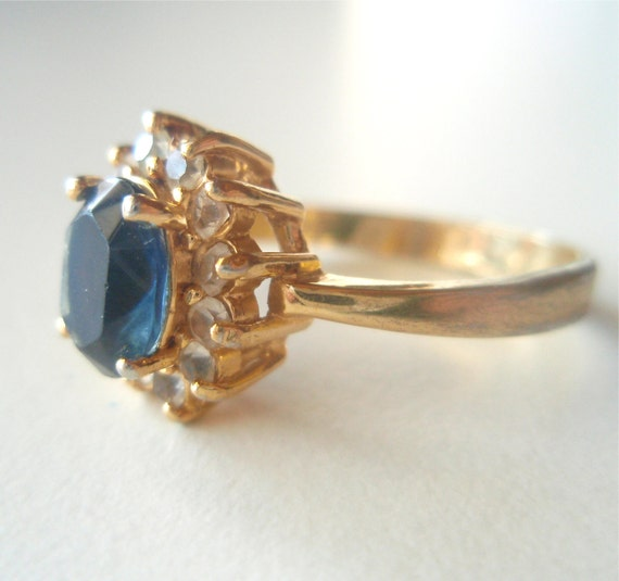 Edwardian Topaz Vintage Engagement Ring by theluckyfish on Etsy