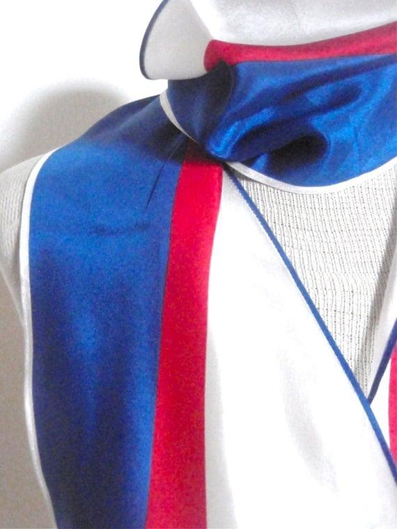 Racing Stripes - a vintage 1980's Vera Neumann Wing-Tip Sheer Scarf