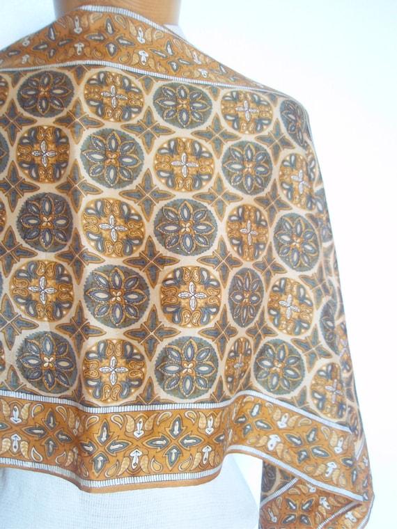 Renaissance Mandala - a rare vintage 1960's Lucky Ladybug Scarf