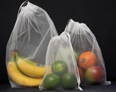 re-usable produce bags, set of 3