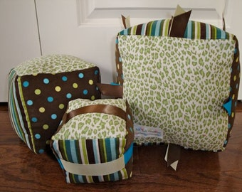 Stackable Play Blocks Stripes and Dots Boys