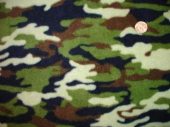 Camo Fleece Fabric Clearance Sale
