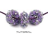 Beading Tutorial, Beaded Bead Pattern, Beadweaving Instructions, Firepolished Crystals and Seed Beads: CORONA BEADS