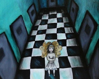 The Pool Of Tears - Original Painting from Alice In Wonderland Series