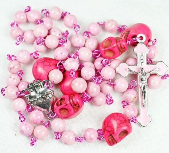 Pretty in Pink Muertas Rosary
