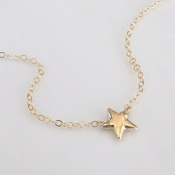 RESERVED For Ashley - Gold Star Necklace As Seen On Kelly Ripa  - 14K Gold Filled