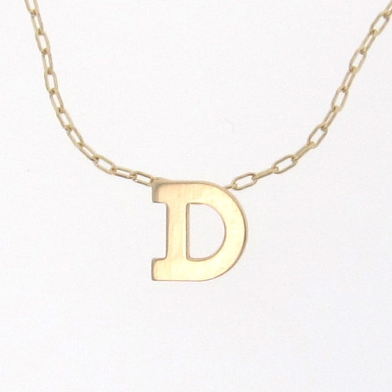 Gold initial necklace personalized necklace 14k solid for 14k gold letter necklace