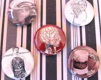 medical curiosities 001 pin set of five pins