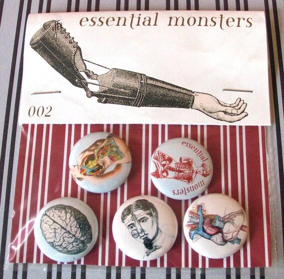 medical curiosities 002 pin set of five pins