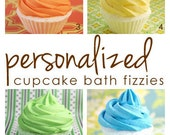 personalized cupcake bath fizzies, QTY 12