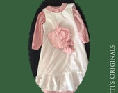 Prairie Girl Custom 3 Piece Pioneer Dress Outfit-Size 6-8 from our Walnut Grove Collection