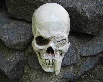 Mutant Saber Fang Skull - Life Size OOAK