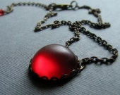 RED Modern Lucite Necklace Make a statement with this choker length glow necklace