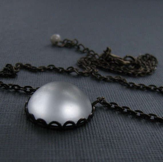 Ice Storm Modern Necklace