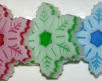 Snowflake 5 Soaps Mint Collection