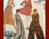 Misses Dress pattern size 10 in Two Lengths and Jumpsuit in Two Lengths McCalls 5666
