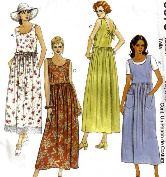 Misses Dress pattern Easy Mccalls size Med 12-14 9373