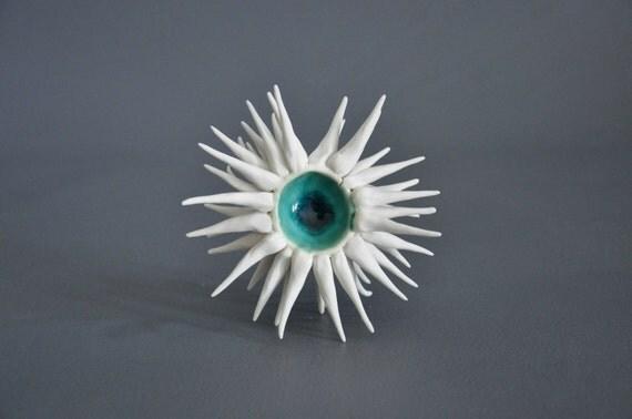 SALE:  Cerulean Anemone Sculptural Bowl