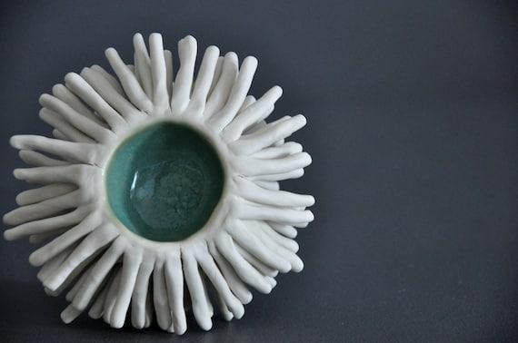 Seawater Anemone Sculptural Bowl OOAK