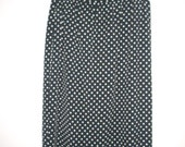 80s 90s Liz Claiborne polka dot black white skirt
